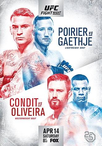 نتایج رویداد :  UFC on FOX 29: Dustin Poirier vs. Justin Gaethje