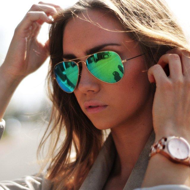 عینک آفتابی ارزان شیشه سبز