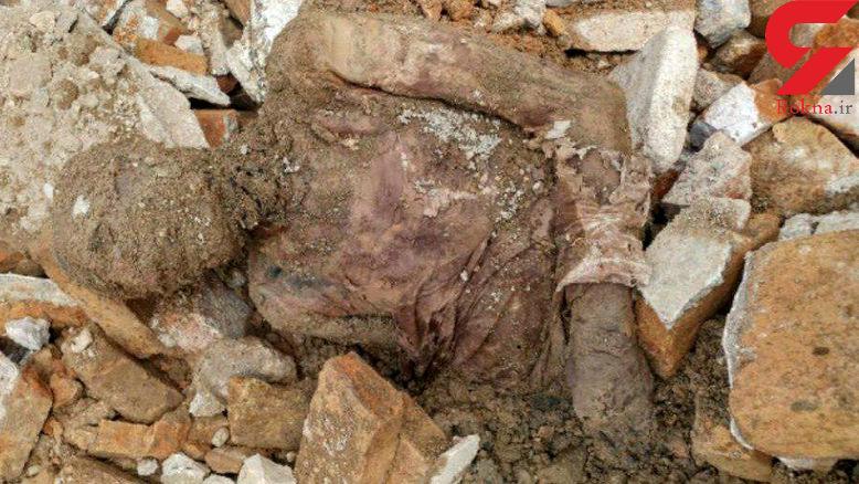 عکس جسد مومیایی کشف شده در شهر ری