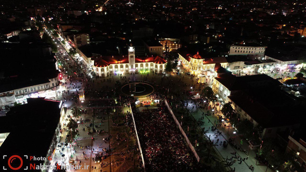 گزارش تصویری از جشن بزرگ نیمه شعبان در پیاده راه فرهنگی رشت
