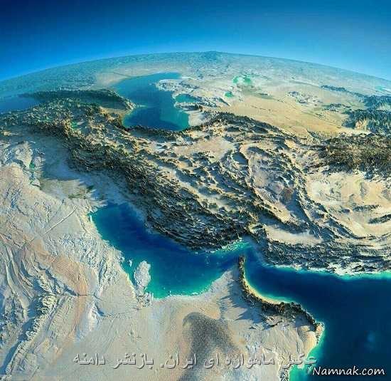 عکس ماهواره ای ایران. بازنشر دامنه