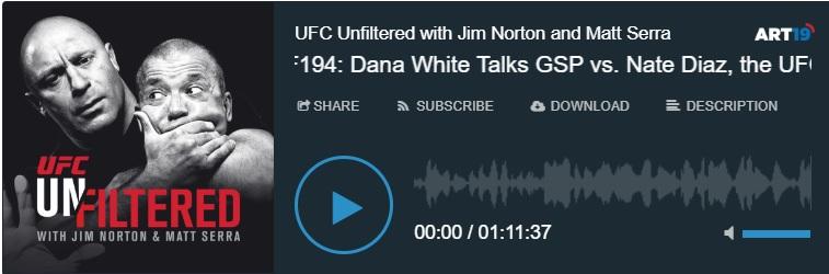 صحبتهای دانا وایت در رابطه مبارزه جورج و نیت + گوستافسن و راکهولد و دیگر