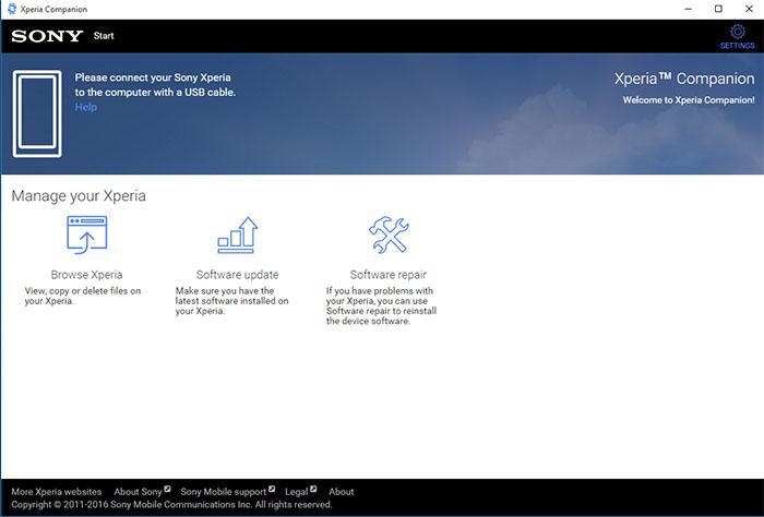 دانلود Sony PC Companion برنامه مدیریت گوشیهای سونی