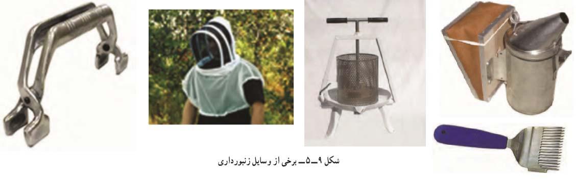 برخی وسایل زنبورداری