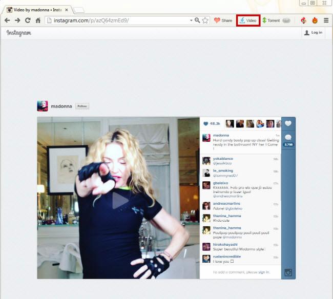 دانلود ویدئوهای اینستاگرام با مرورگر Torch