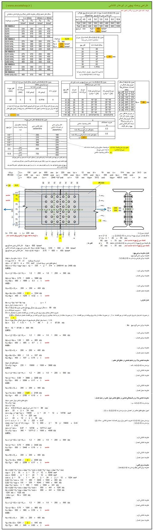 آموزش طراحی اتصالات در سازه های فولادی