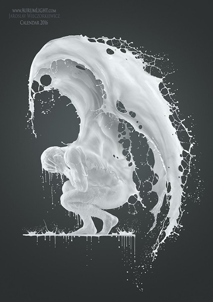 عکس هنری با شیر