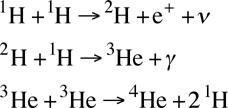 معادله همجوشی هیدروژن و تولید هلیم