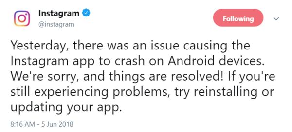 اینستاگرام مشکل کرش کردن اپ اندروید خود را به رسمیت شناخت و آن را برطرف کرد