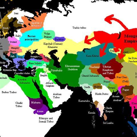 نقشه قلمرو خوارزمشاهیان