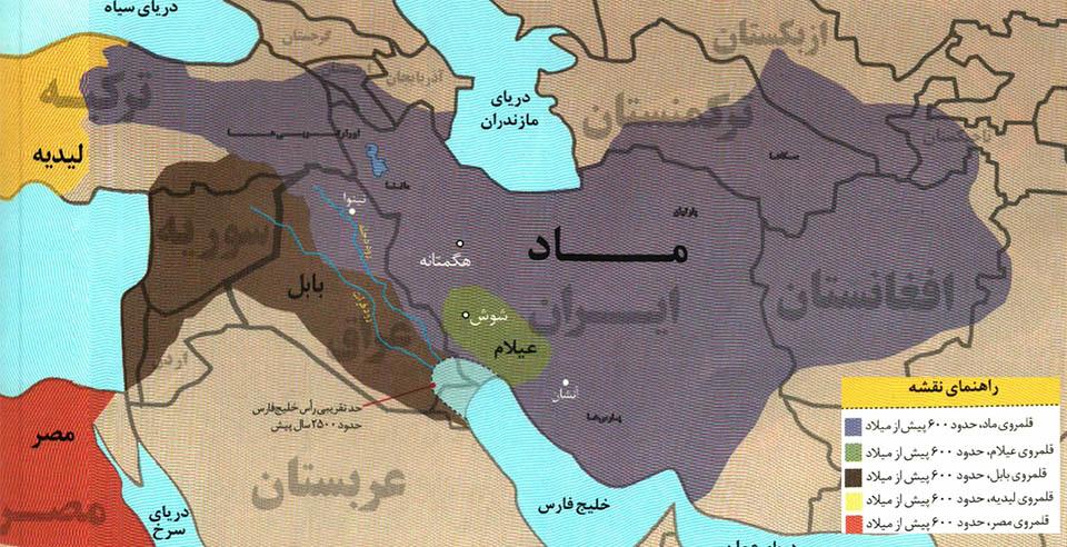 نقشه ایران در زمان مادها