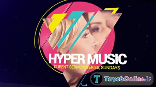 پروژه آماده افترافکت : Hyper Music slide show