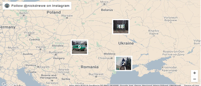 آموزش مرور عکس ها از طریق نقشه از اینستاگرام