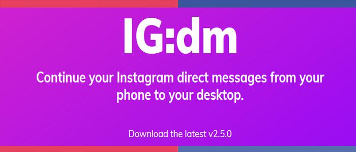 دانلود دایرکت اینستاگرام برای کامپیوتر IGdm با لینک مستقیم