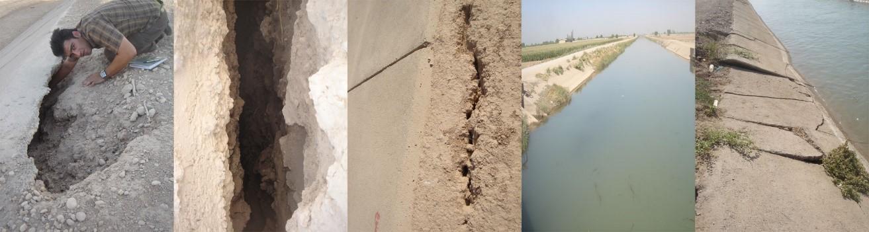 کاربرد شفته آهک نامناسب در کانال چمران (خوزستان)