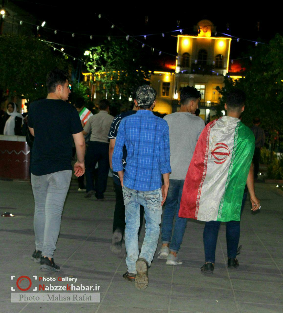 گزارش تصویری تماشای دیدار ایران و پرتغال در پیاده راه فرهنگی رشت