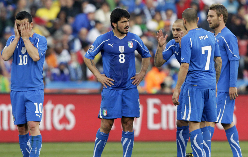 ایتالیای حذف شده در جام جهانی 2010