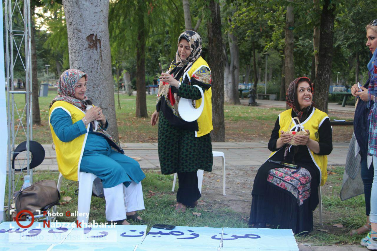نخستین جشنواره بازی های محیط زیستی در پارک قدس رشت در حال برگزاری است