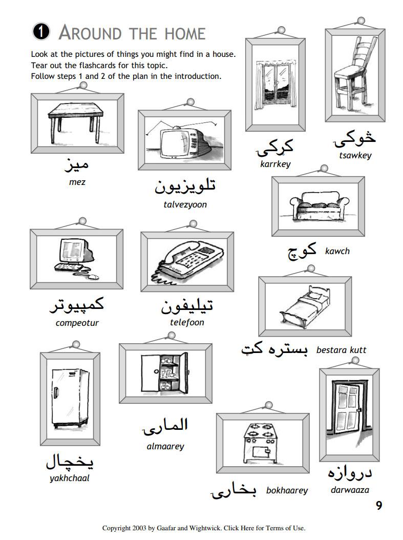 کتاب آموزش زبان پشتو