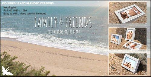 پروژه آماده افترافکت : نمایش عکس در کنار ساحل با حرکت امواج طبیعی