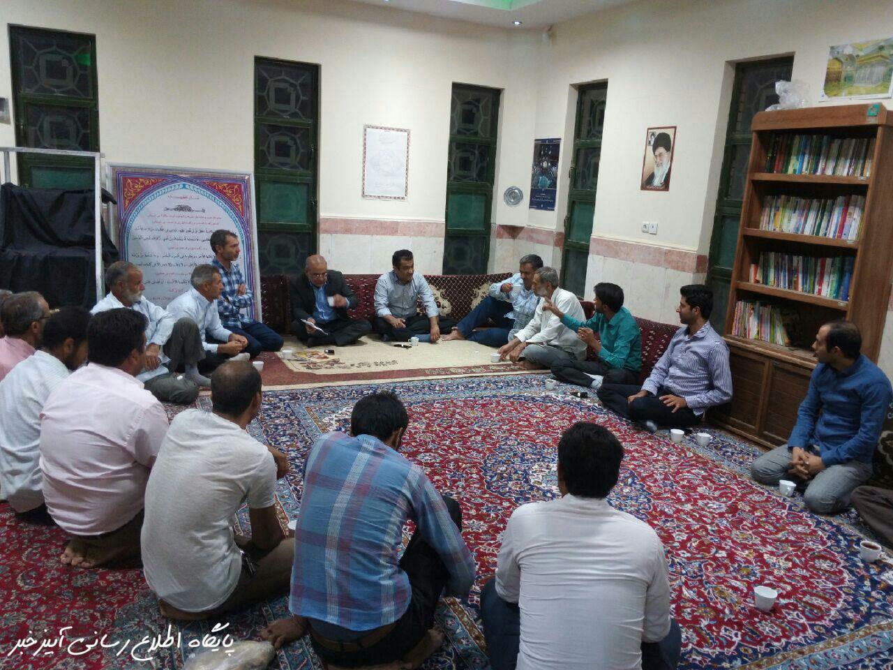 جلسه هم اندیشی مسئولین شهرآبیز با جوانان شهرک جدید
