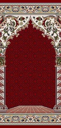 فرش سجاده ای قرمز