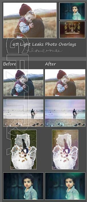 دانلود پک آماده : 65 Light Leaks Photo Overlays