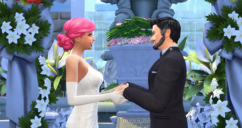 ازدواج در سیمز ازدواج در سیمز 4 سیمز 4 عروسی عروسی بازی سیمز 4