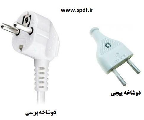 انواع دوشاخه برق