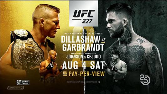 نتایج رویداد:  UFC 227: TJ Dillashaw vs. Cody Garbrandt II