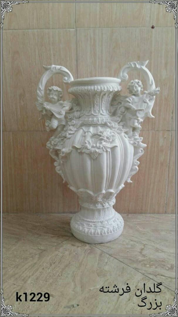 گلدان فرشته بزرگ فایبرگلاس کد 1229