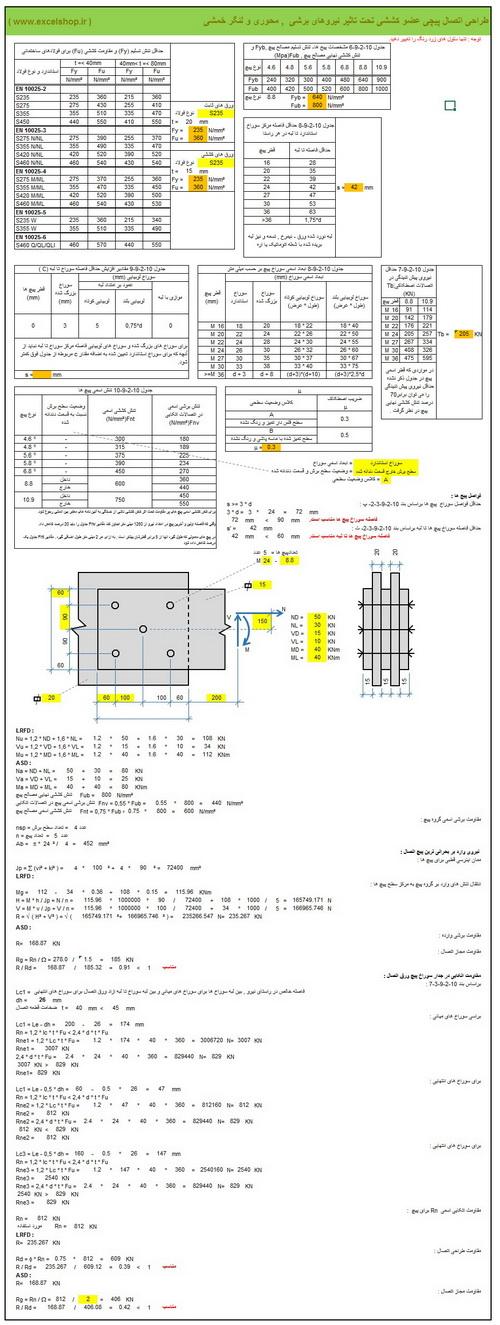 آموزش طراحیاتصالات پیچی در سازه های فولادی