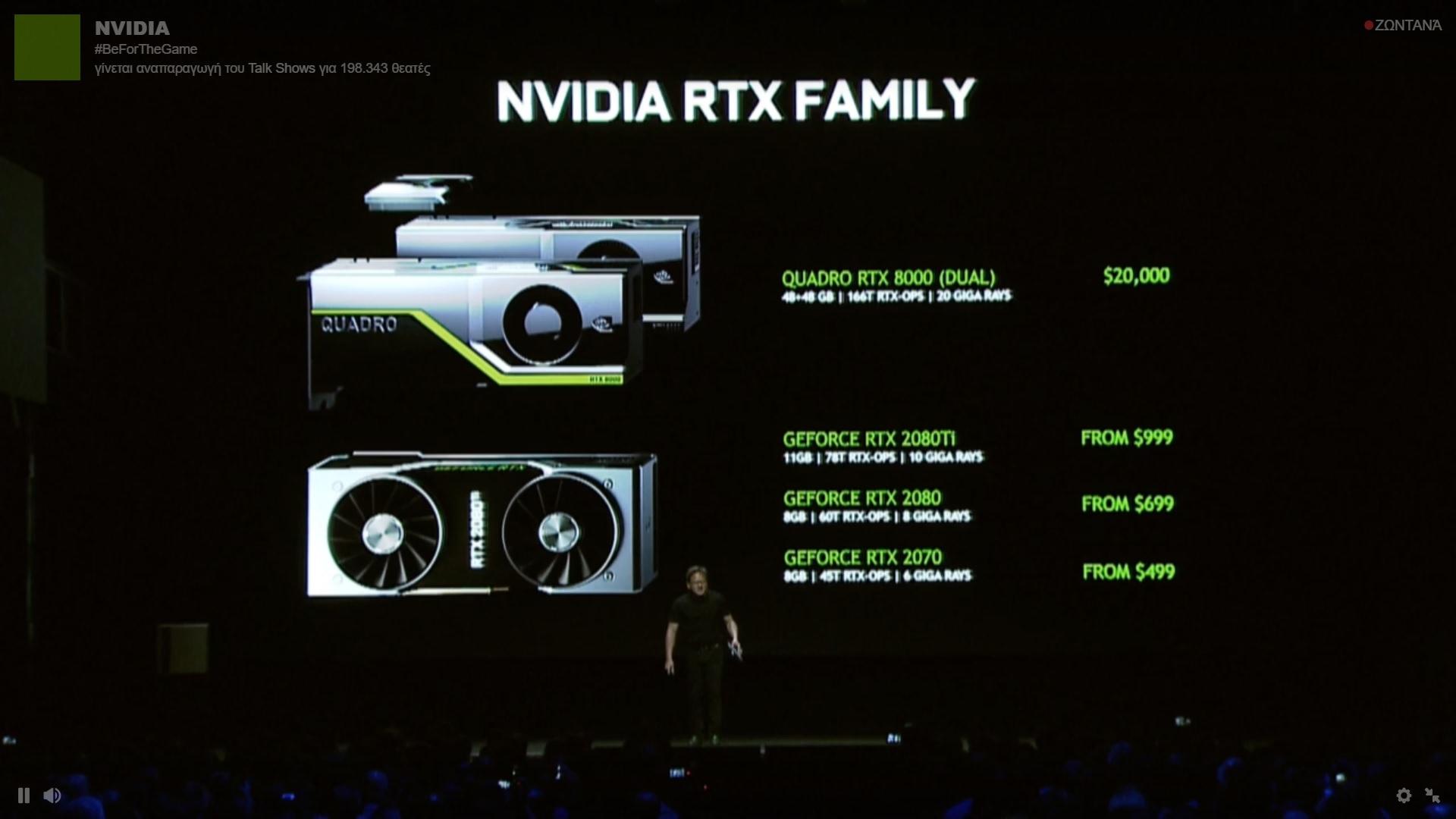 نسل جدید گرافیکهای Nvidia تحت عنوان RTX 2000 معرفی شد + جزئیات