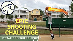 Epic Basketball Shooting Challenge with Max from MGS | Featuring some sick NBA Impersonations