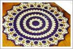 رومیزی کوچک قلاب بافی با الگو