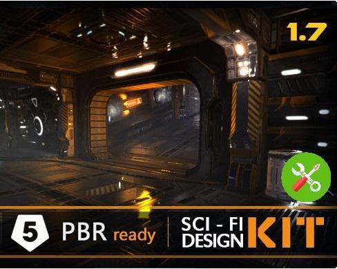 پکیج محیط یونیتی Sci-fi Design Kit