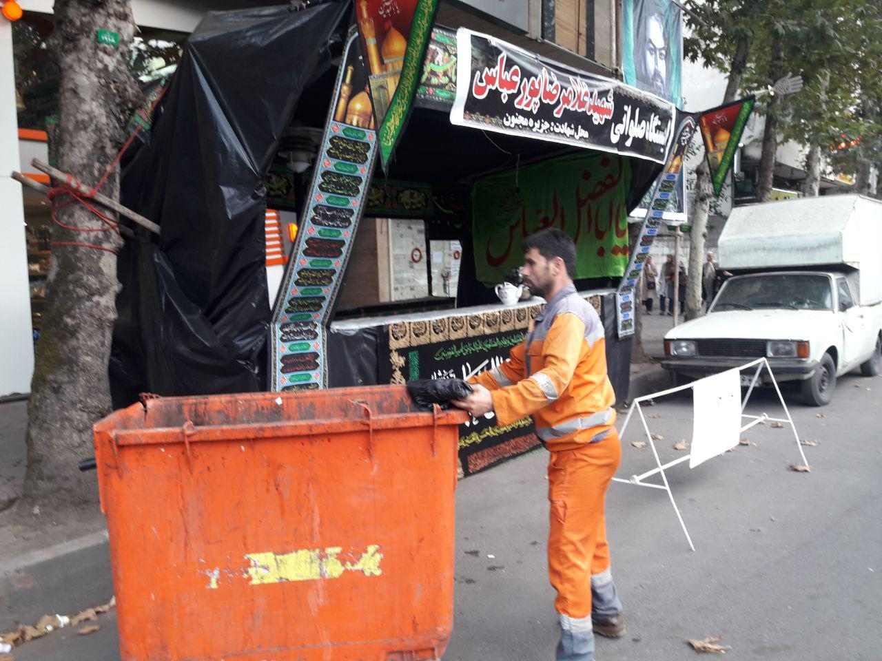 پخش پلاستیک های تفکیک و لیوان های گیاهی در ایستگاه های صلواتی و حسینیه ها و مساجد