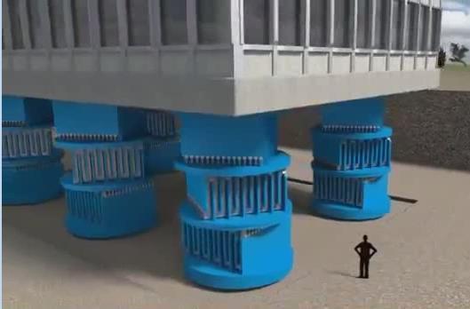 انیمشین سیستم جداساز لرزه ای (Base Isolation) صفحه ای، روشی نوین در مقاوم سازی در برابر زلزله