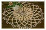 رومیزی قلاب بافی زیبا به همراه الگوی بافت