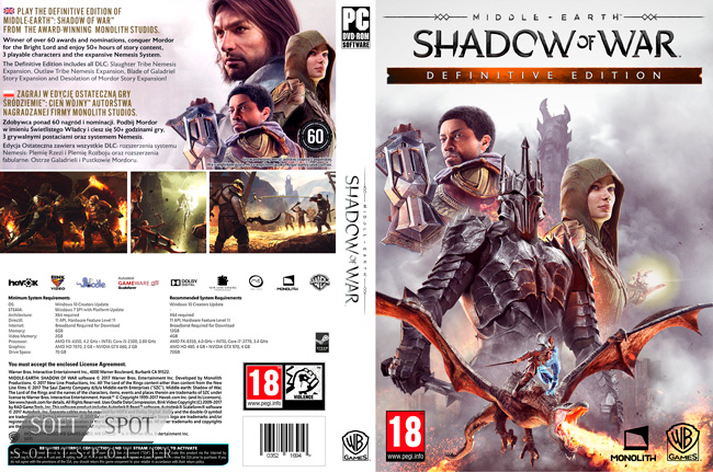 Middle-earth Shadow of War Definitive Edition cover
