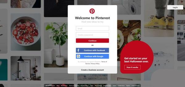 استفاده از برنامه Pinterest به جای اینستاگرام