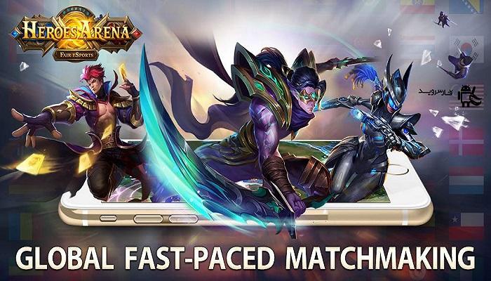 دانلود Heroes Arena 2.1.15 - بازی نقش آفرینی میدان نبرد قهرمانان اندروید