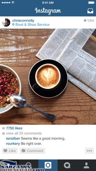 مهم ترین ویژگی های نرم افزار Instagram iOS: