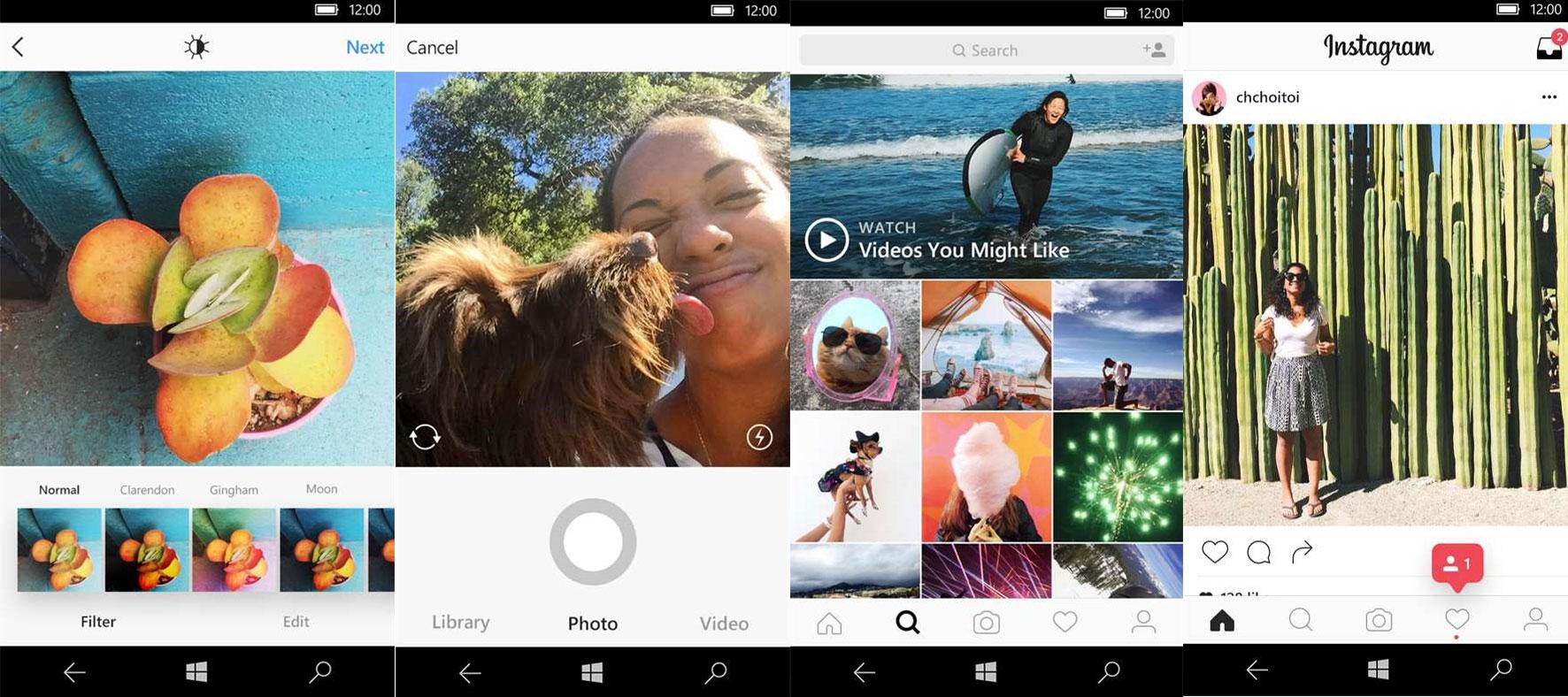 برنامه اینستاگرام ویندوز ۱۰ با قابلیت آپلود عکس از طرق وب کم اپدیت شد+ دانلود