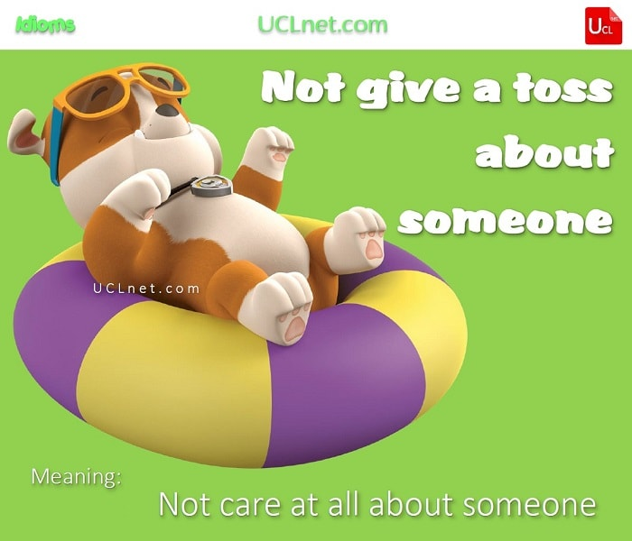 English Idiom: not to give a toss about someone
