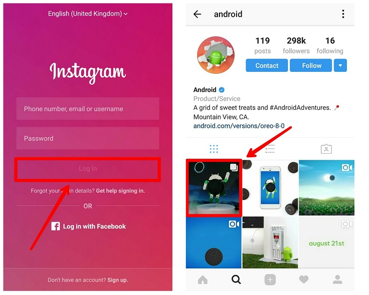 Learn how to use Oginsta to download photos and videos on Instagram