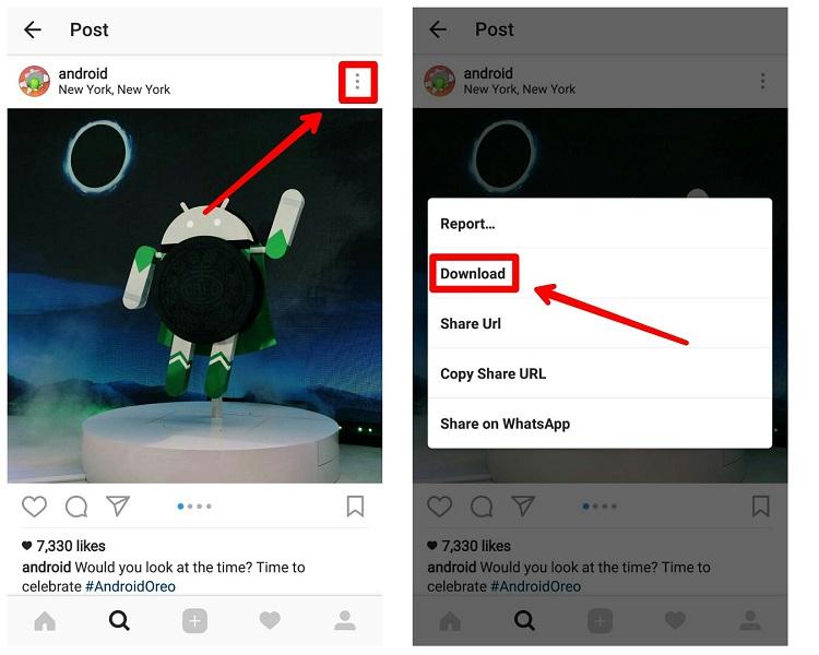 آموزش استفاده از Oginsta برای دانلود عکس و ویدیو در اینستاگرام
