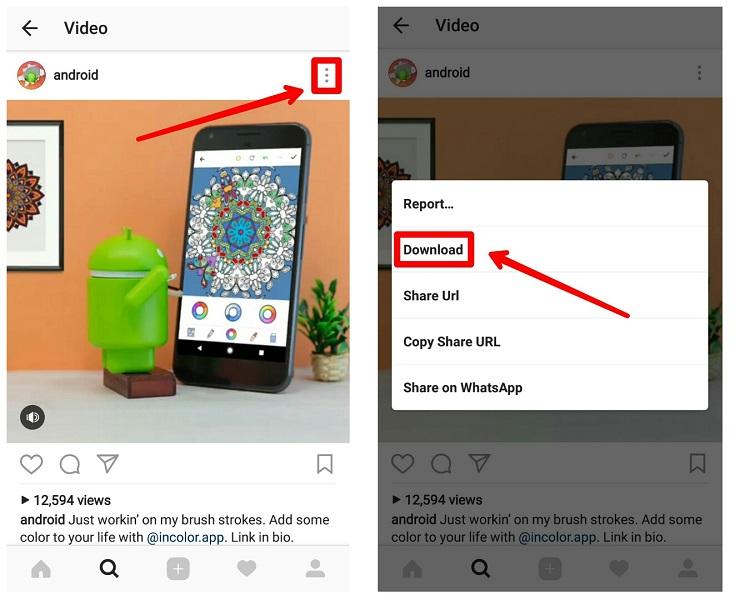 آموزش دانلود عکس و فیلم اینستاگرام با نسخه ی جدید Oginsta