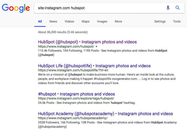 شیوه پیدا کردن اکانت اینستاگرام کاربران با کمک گوگل