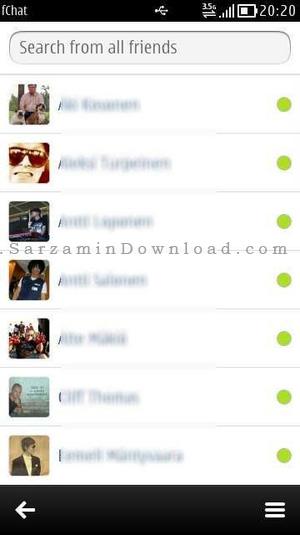 دانلود برنامه فیس بوک سیمبین Facebook Chat Symbian